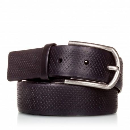 1002-35-KG-NG Cinturón grabado de piel negro