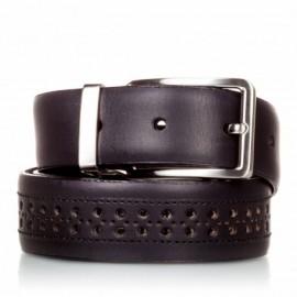 1003-35-KG-NG Cinturón con picados de piel negro