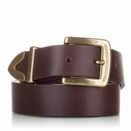 1006-35-KG-MA Cinturón de piel al corte marrón