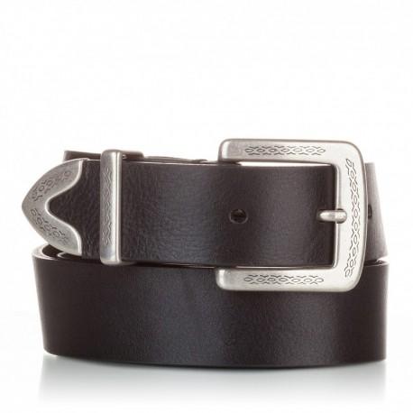 Cinturón de piel al corte negro