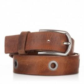 Cinturón de piel envejecida cuero
