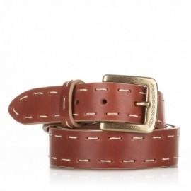 1008-35-KG-CU Cinturón de piel con pasado a mano cuero