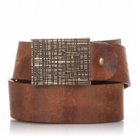 1010-40-KG-CU Cinturón de piel al corte envejecida cuero