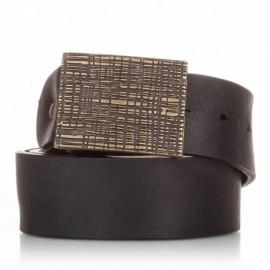 1010-40-KG-NG Cinturón de piel al corte envejecida negro