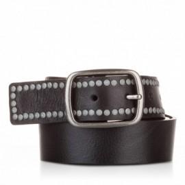 Cinturón con remaches piel negro