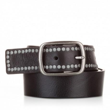 1014-40-KG-NG Cinturón con remaches piel negro