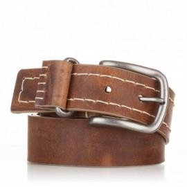 1015-40-KG-CU Cinturón cosido de piel cuero
