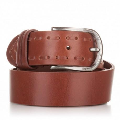 Cinturón ensamblado y pasado piel cuero