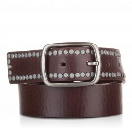 Cinturón con remaches piel cuero