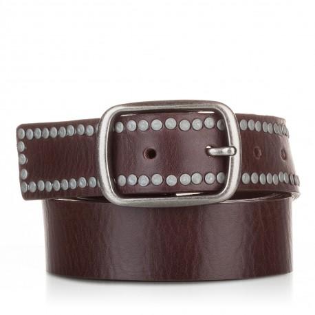 1014-40-KG-MA Cinturón con remaches piel cuero