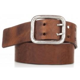 1011-40-KG-CU Cinturón hebilla doble piel envejecida cuero