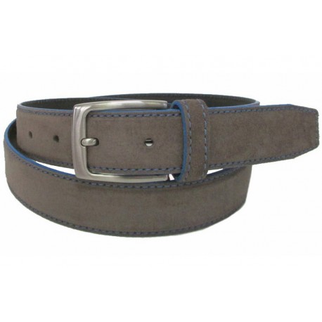 5146-35-KG-TA Cinturón de piel serraje Taupe