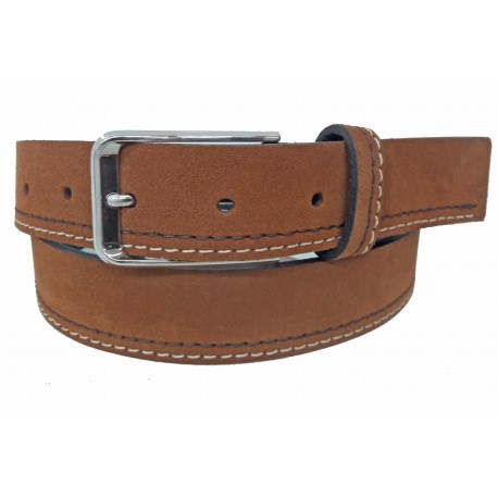 5461-35-KG-CU Cinturón de piel serraje Cuero