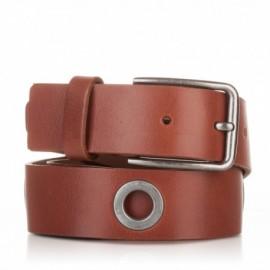 1019-40-KG-CU Cinturón al corte con ojetes piel cuero