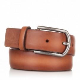 Cinturón liso de piel cuero