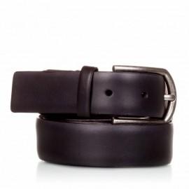 1001-35-KG-NG Cinturón liso de piel negro